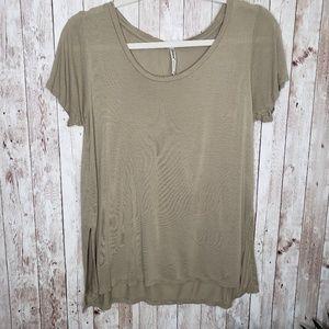 Tresics Green Short Sleeve Top Size M